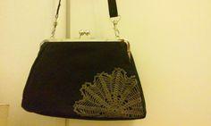Kukkarolaukku pitsillä Bags, Fashion, Handbags, Moda, Fashion Styles, Fashion Illustrations, Bag, Totes, Hand Bags