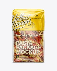 Gramigna Pasta Package Mockup. Preview
