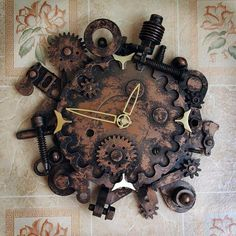 DIY Bits and bobs from the hardware store! Recycling and diy design ideas for modern wall clocks