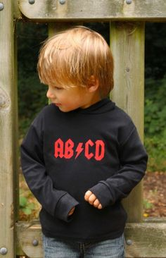 Rock Baby Toddler Hoodie | AB/CD Boys Cool Rock Baby Clothes