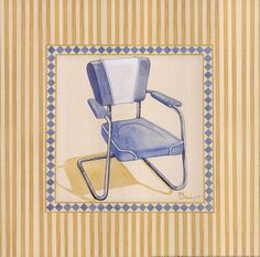 Framed Retro Patio Chair III Print