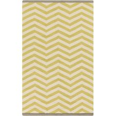 Chevron Chatreuse Outdoor Rug - So I hate that Chevron is everywhere now, but this rug is all wool, has that shade of yellow I've been digging, and is cheap (even before the trade discount.)