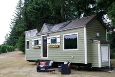 Victorian Tiny House, a custom tiny house on wheels built by Tiny Heirloom in Oregon City, Oregon (pinned by haw-creek.com)