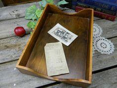 Vintage Wood Inbox by allthatsvintage56 on Etsy