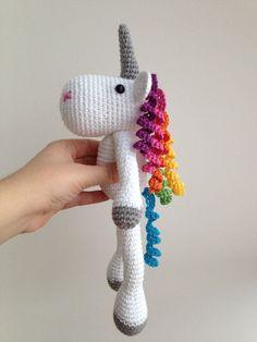 Unicorn Amigurumi Crochet via Etsy 25 € Patterns for 4 € by sharene