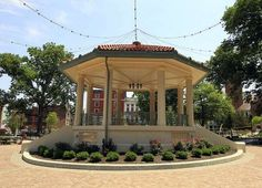 The bandstand at Washington Park, built in 1911, was restored and still sits at its orginal location.