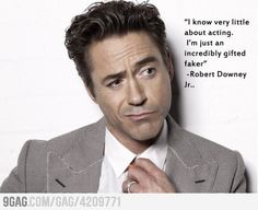 Robert Downey Jr. - Click image to find more Film, Music & Books Pinterest pins