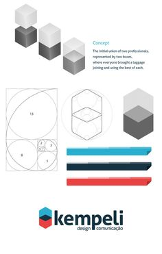 Amazing how a simple geometric logo was made using the golden spiral grid. Lovely!