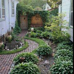Charming small yard