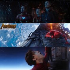 But like how he breathe though.   Also I'm pretty sure this is the portal thanos is using to bring his army of skrulls and horsemen. Spidey has one side. Thor has the other