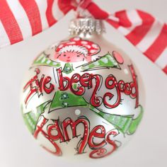 'I've Been Good' Elf Ornament