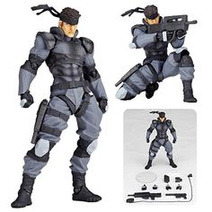 Metal Gear Solid Snake Revoltech Yamaguchi Action Figure