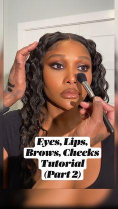 Cute Makeup, Glam Makeup, Beauty Makeup, Hair Makeup, Black Girl Makeup, Girls Makeup, Dark Skin Makeup, Natural Makeup, Makeup Goals