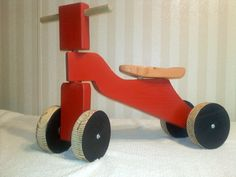 Toddler Wooden Ride On. $55.00, via Etsy.