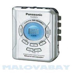 Panasonic RQ-CR07V Portable Cassette Stereo Digital LCD XBS auto reverse #Panasonic