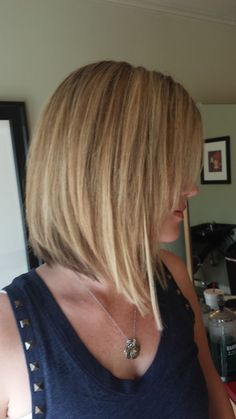 Long Bob....like the back but need a more dramatic angle for a bit longer look in front.