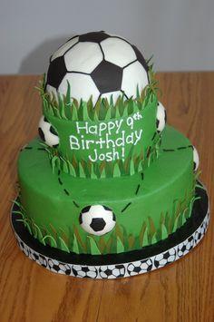 Soccer cake! #soccer #cake