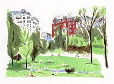 Les Buttes Chaumont, été  // Dominique Corbasson