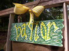 SUMMER SALE Baylor Bears Wired Sign by SouthernFCreations on Etsy, $10.00