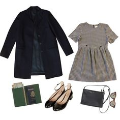 train ride by panthalatta on Polyvore featuring COS, Topshop, Royce Leather and…
