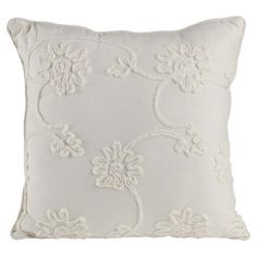 Bring a pop of style to your sofa or favorite reading nook with this lovely cotton pillow, featuring an embroidered floral motif for garden-chic style. Bolster Pillow, Throw Pillows, Blue Pillows, Black Rooms, Vintage Pillows, Pink Accents, Cotton Pillow, Reading Nook, Joss And Main