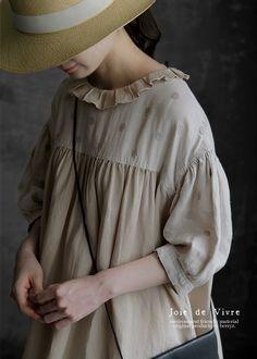 【送料無料】Joie de Vivre フレンチリネンリアクティブダイブロドリールーシュドレス Korean Babies, Drawing Clothes, Chiffon, Couture, Blouse, Sleeves, Tops, Beauty, Style