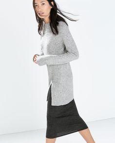 Image 3 de PULL TWEED FENTE de Zara