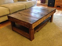 Rustic Handmade Coffee Table by wolvesandbears on Etsy, $250.00
