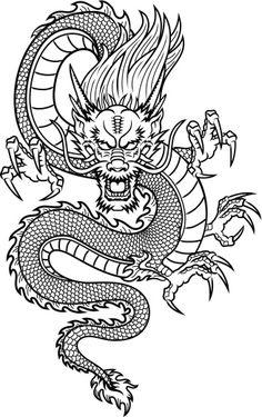 Illustration of Traditional Asian Dragon vector art, clipart and stock vectors. Image Traditional Asian Dragon Nicholas Abbass nicholasabbass New Illustration of Traditional Asian Dragon vector art, clipart and stock vectors. Irezumi Tattoos, Leg Tattoos, Body Art Tattoos, Sleeve Tattoos, Asian Tattoos, Tatoos, Chinese Tattoos, Arm Tattoo, Red Ink Tattoos
