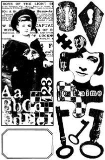 Laminas decoupage: Black and white