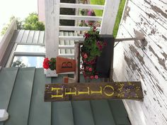 """DIY barn wood """"hello"""" sign...I would rather it say WELCOME :D"""