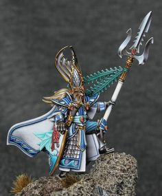 At long last I have completed the base for my high elf sea lord! I'm very pleased to have this project finished. This miniature dates from the dark age of GW communication ;)but I'm re…