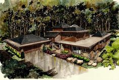 Elevation of Contemporary   Prairie Style   Ranch   House Plan 43208