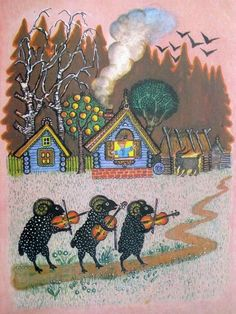 Illustration for Children Tales by Soviet Russian artist Yuri Vasnetsov