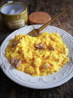 Oeufs brouillés au foie gras
