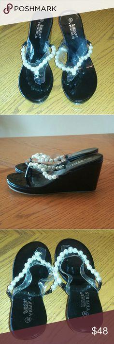 Elegant Black Pearl Pumps Brand new. Size Euro 39. US 8.5 YRGirls Shoes Heels
