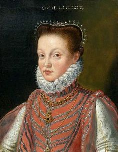 Portrait of Duchess of Liegnitz (Legnica), possibly Anna Maria (1563-1620) or Emilia (1563-1618) daughter of Henry XI of Liegnitz (Legnica) by Anonymous, ca. 1575 (PD-art/old), Kunsthistorisches Museum