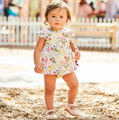 Sweet bows and gathered sleeves make our new bloomer set truly unique. Fully lined. Available in Hamilton Plaid and Garden Party. 100% cotton; machine wash. Sizes 3m-3y. *bella bliss® uses the finest cottons available. For best results, lay flat to dry then fluff on low heat.