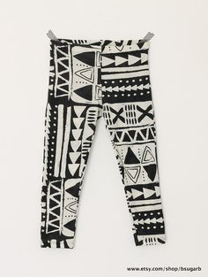 Unisex Tribal Print Kids Leggings by BsugarB on Etsy, $22.00