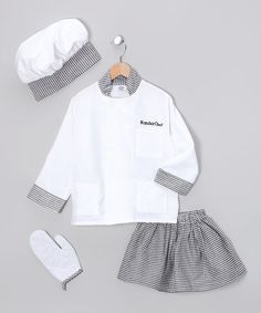 Take a look at this White Deluxe Chef Dress-Up Set - Toddler & Kids by Dress Up America on #zulily today!