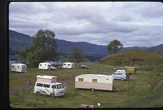35mm Slides British Vintage camper Van Camp Site 1970'S | eBay