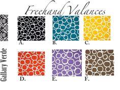 Geometric  Valance.Window valance Geometric by GallaryVerde