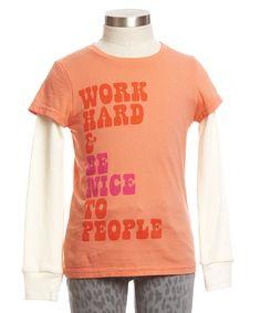 Work Hard Tee - Tops & Tees - Shop - girls   Peek Kids Clothing