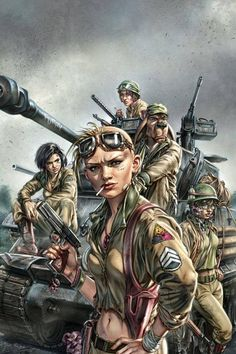 World War Tank Girl Cover art for Titan Comics Jason Voorhees, Steampunk, Mad Max, Comic Book Characters, Comic Books, Tank Girl Comic, Jet Girl, Girl Posters, Post Apocalyptic Art