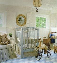 antique baby boy nursery | Vintage-look baby boy nursery | The only creatures that are evolved...