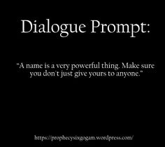Writing Prompt - Powerful Name