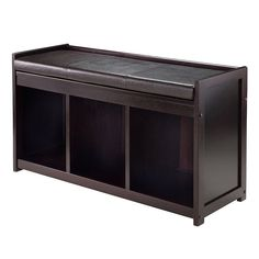 Winsome Wood Bench 92349 Addison Storage with Seat Cushion Leather Storage Bench, Storage Bench With Cushion, Bench Set, Bench With Shoe Storage, Upholstered Storage Bench, Bench Cushions, Storage Benches, Shoe Cubby, Furniture Legs