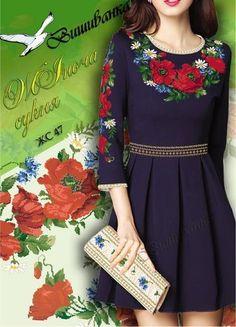 #СХЕМА для вишивка хрестиком жіночої сукні ЖС 047, 25 ГРН.
