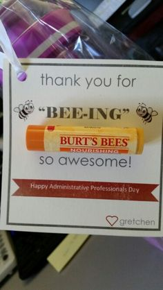 But with the Burt's Bee's hand lotions