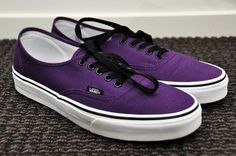 Purple & Black Vans. <3